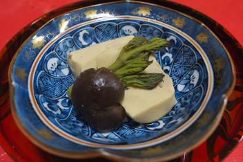 たらの芽 高野豆腐 炊き合わせ